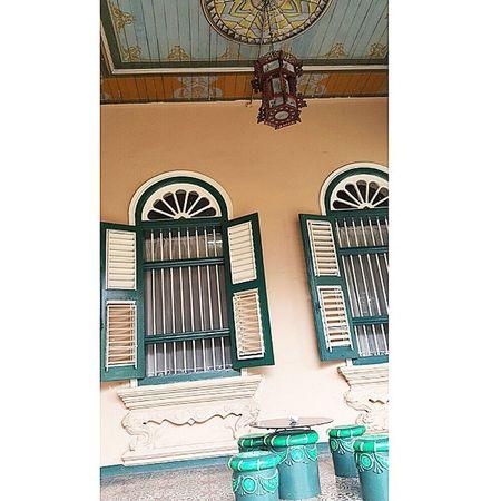 Nice terrace setting and colour of Tjongafiemansion Tjongafie Mansion Medan sumatera indonesia travelmania traveling 2015.05.30