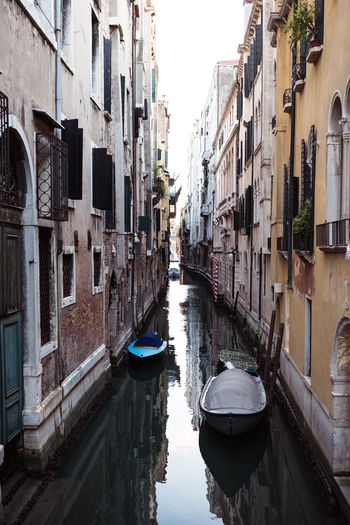 Alley Architecture Building Building Exterior Built Structure Canal City Day Incidental People Mode Of Transportation Narrow Nature Nautical Vessel Outdoors Reflection Residential District Transportation Venice Water Waterfront