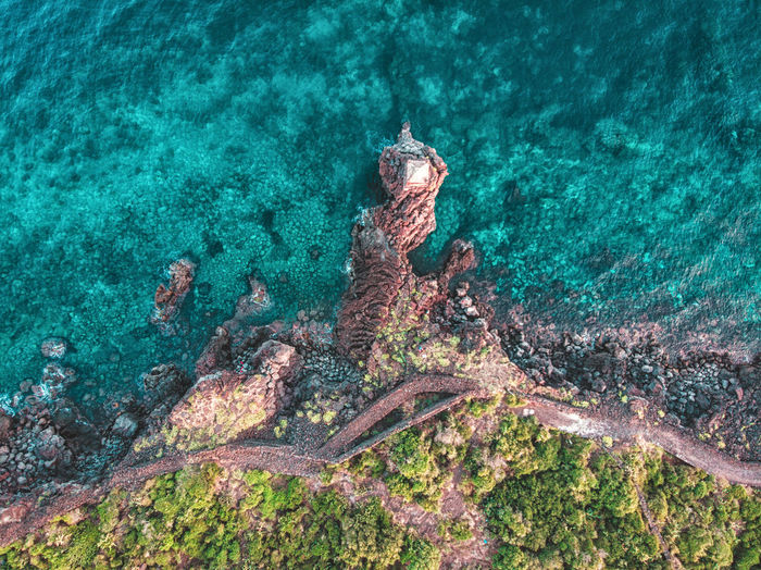 La Garitta, Santa Tecla. Sea Water Nature Underwater High Angle View No People Beauty In Nature UnderSea Day Sea Life Outdoors Scenics - Nature Aerial View Animals In The Wild Turquoise Colored Animal Animal Wildlife Coral Land Marine Sicily Catalunya
