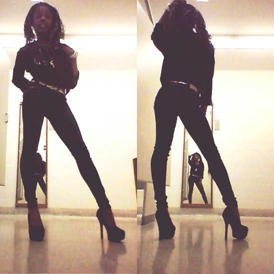 all black everythamg .. just one of them days ♥
