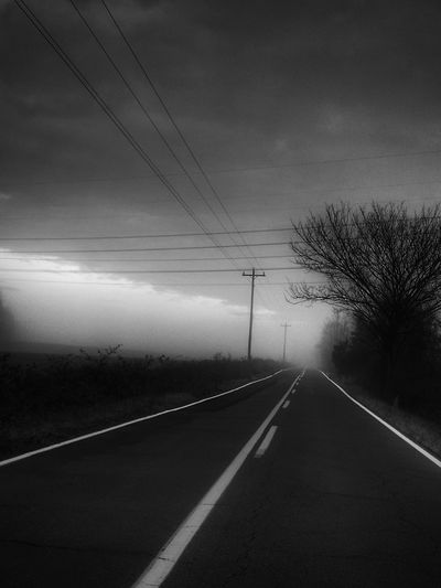 Road The Way Forward Transportation Outdoors Getty Images Deserted Scapes Eye4photography  Atmospheric Mood Gloomymood Ominous Mood Captures Bnw_friday_challenge Blackandwhite Photography Bnw_maniac Hauntingly Beautiful Monochrome_Monday Grayscale