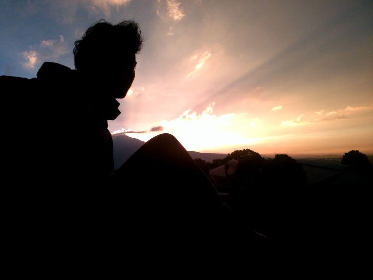 Silhouette That's Me Amazing Mountain