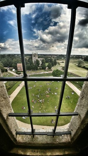 Tattershall Castle Sky Indoors  Window Architecture Built Structure Sky Indoors  Window Architecture Built Structure Cloud - Sky Green Color Geometric Shape Cloud Day Growth History Nature Horizon Circle Castle