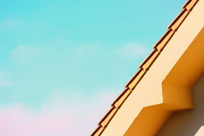 Minimalism is all around us Blue Blue Sky Minimalism Minimal Architecture Built Structure Staircase Building Exterior Steps And Staircases No People Low Angle View Day Sky Close-up Outdoors The Graphic City