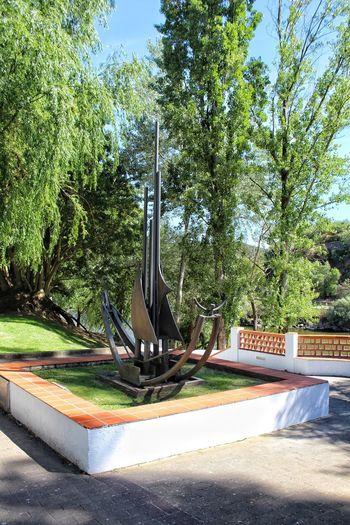 caravel. Constância, Portugal Constância,Potugal Sculpture Caravel Tree Sky