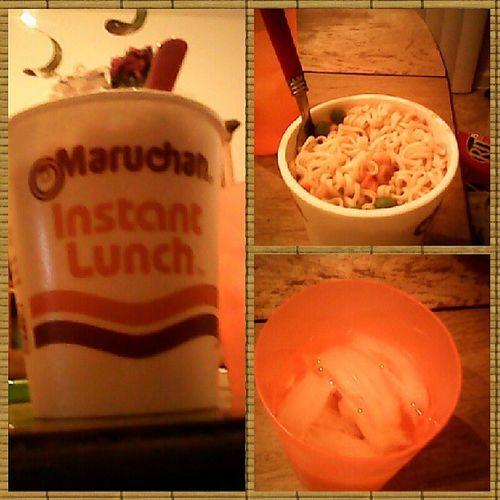 Shrimp Flavored Noodles Maruchan  Drinking Water Sooooooo Gooooood