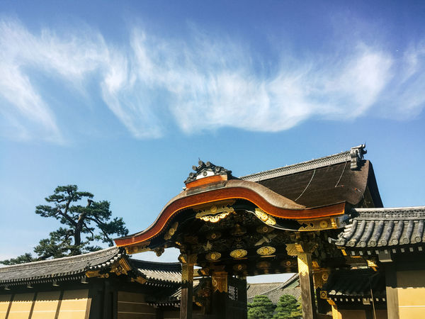 Castle Gate Japan Wall Architecture Building Exterior Built Structure Chinese Dragon Cloud - Sky Clouds Day Dragon Low Angle View No People Outdoors Roof Shogun Sky Wall - Building Feature