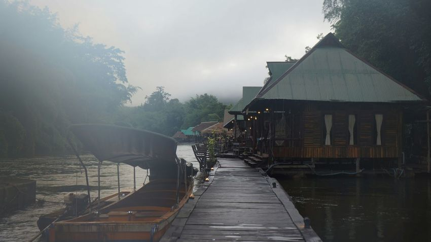 Into the fog The Forest Resort Traval With Friends At Thailand Kanjanaburi Holiday Trip Nature