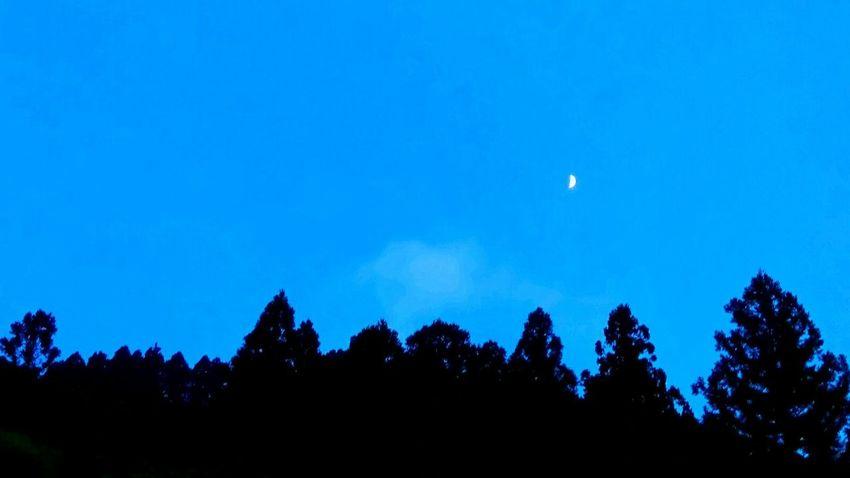 Mountain Moon Evening Bule