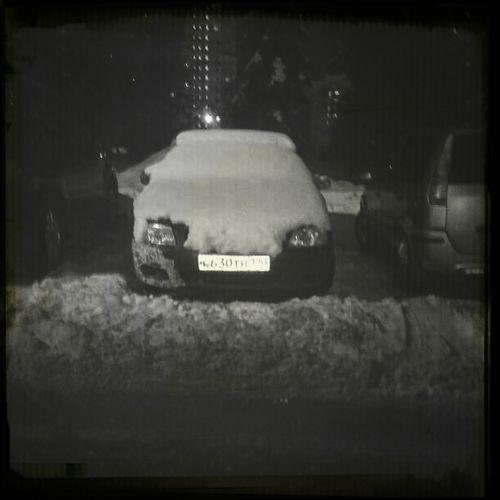 Car Winter Snow Snowing