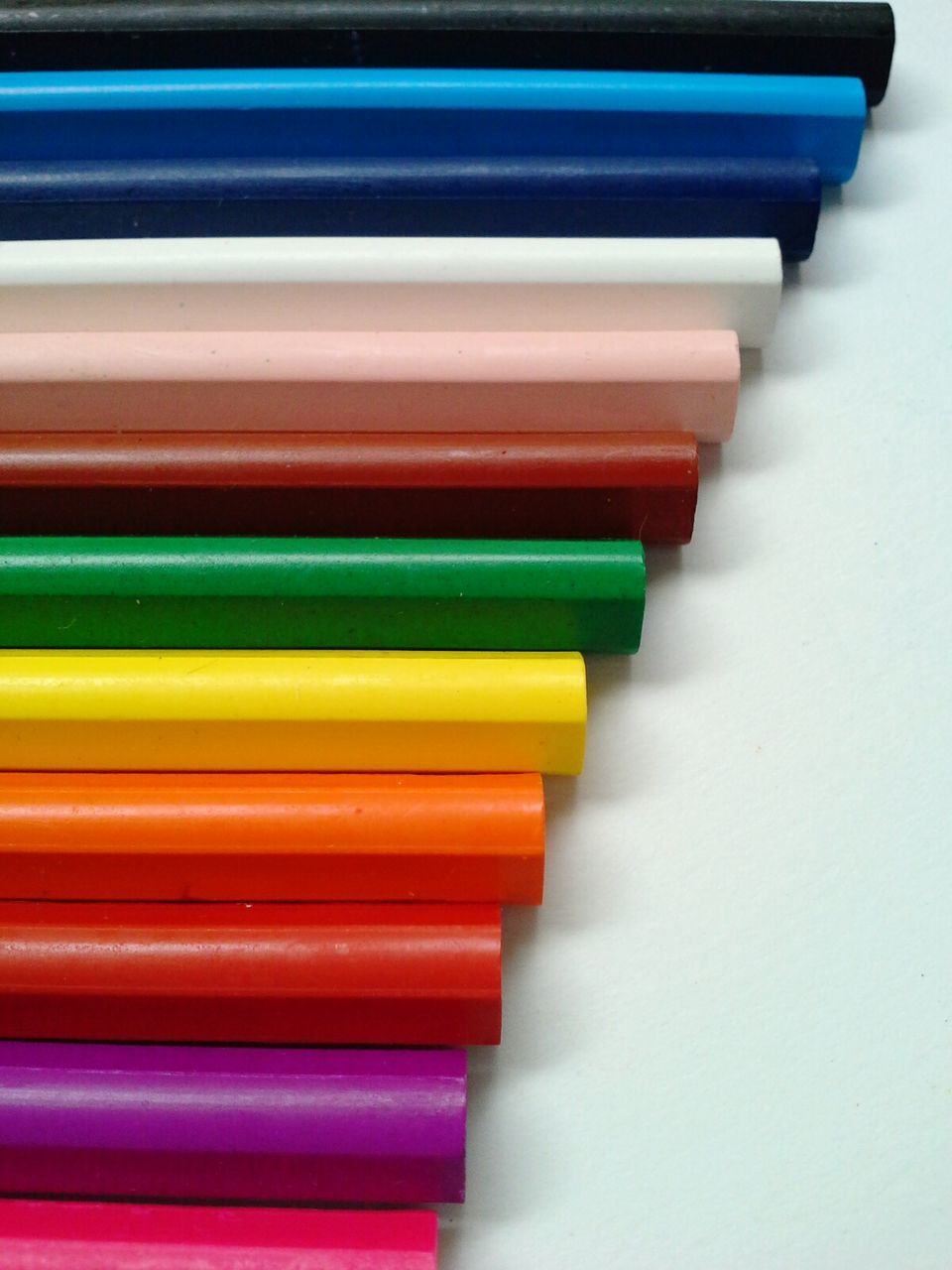 Close-Up Of Multi Colored Wax Crayons