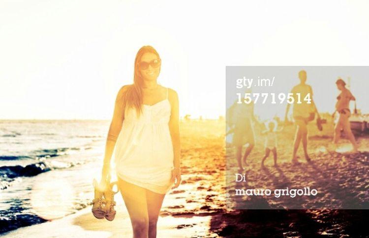 Summer Sea Sunset Woman Istockphoto