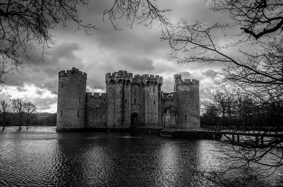 Bodiam Castle in glory Architecture Atmospheric Bodiam Castle Bridge Building Exterior Built Structure Castle Cloud - Sky Day English Heritage Fortress History Moat Moated Castle Moody No People Old Ruin Outdoors Protection Sky War War Buildings Water