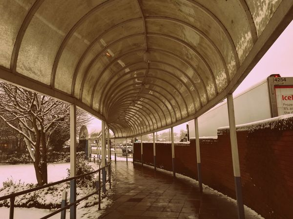 Arch Architecture Built Structure Cold Temperature Day Illuminated Indoors  No People The Way Forward Transportation