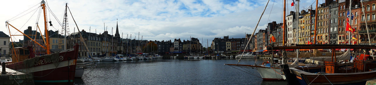 Honfleur October Travel Photography Architecture Cloud - Sky Day Harbor Mode Of Transport Nautical Vessel No People Sailing Ship Travel Destinations Water With Wife