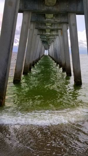 Architecture Water Built Structure Architectural Column Below Underneath Bridge - Man Made Structure Beach Day Outdoors Sea No People Pier Piers And Waves