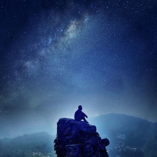 """ BLUES AND I"" Sunnyhopper EyeEm Best Shots EyeEm Low Angle View Side View EyeEm Selects EyeEm Best Edits Night Star - Space Milky Way Astronomy Galaxy Silhouette Space Space And Astronomy Dark One Person Sky People Adults Only Scenics Adult Landscape Star Field Nature Cold Temperature Adventure EyeEmNewHere Go Higher The Great Outdoors - 2018 EyeEm Awards The Traveler - 2018 EyeEm Awards Summer Road Tripping My Best Travel Photo My Best Photo"