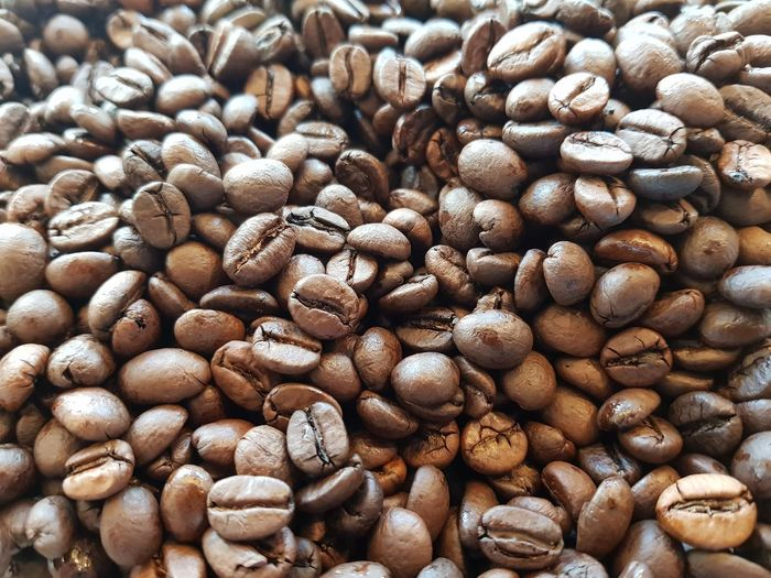《 Backgrounds Full Frame Coffee Lover Coffee Beans Brown Color 》