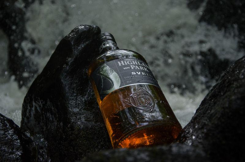 Close-up of wet bottle