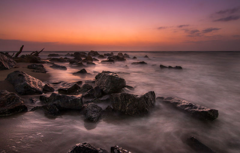 sunrise rocks Beach Cloud Clouds Coast Day Landscape Light Long Exposure Morocco Night Ocean Rocks Sand Sea Seascape Sky Summer Sun Sunrisr Travel Water Waves