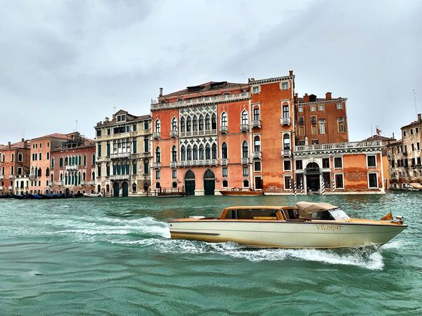 Speed in Venice Architecture Building Exterior Built Structure Water Sky Nature Cloud - Sky Building Day Waterfront No People City Outdoors Travel Destinations