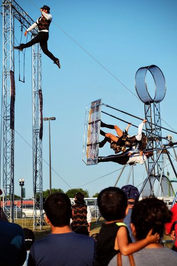 Nebraska State Fair August 2016 Grand Island, Nebraska -- Flippin' - A Steam Punk Theme Aerial & Acrobatic Spectactular Acrobatics  Action Shot  Americans Balancing Act Camera Work Costume Daredevil Decisive Moment Eye For Photography EyeEm Best Shots EyeEm Gallery EyeEm Masterclass Flying Flying High Mid-air Nebraska Performance Performing Arts Photography Photojournalism Show State Fair Steam Punk Stunts Trapeze Artist