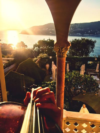 EyeEmNewHere France Côte D'Azur Violin Music Musician Sunset Sea And Sky Garden Be. Ready. Business Stories Love Yourself My Best Travel Photo