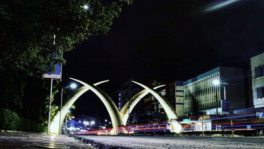 Mombasa City Cityscape Water Illuminated Bridge - Man Made Structure Arch Architecture Built Structure