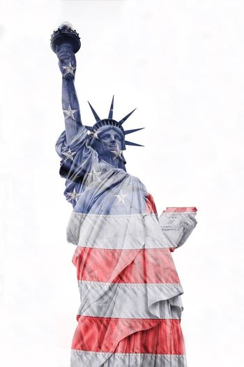 Pivotal Ideas Double Exposure Doubleexposure Showcase August USA USA FLAG Single Object Statueofliberty New York City New York Flags Flag Statue Of Liberty