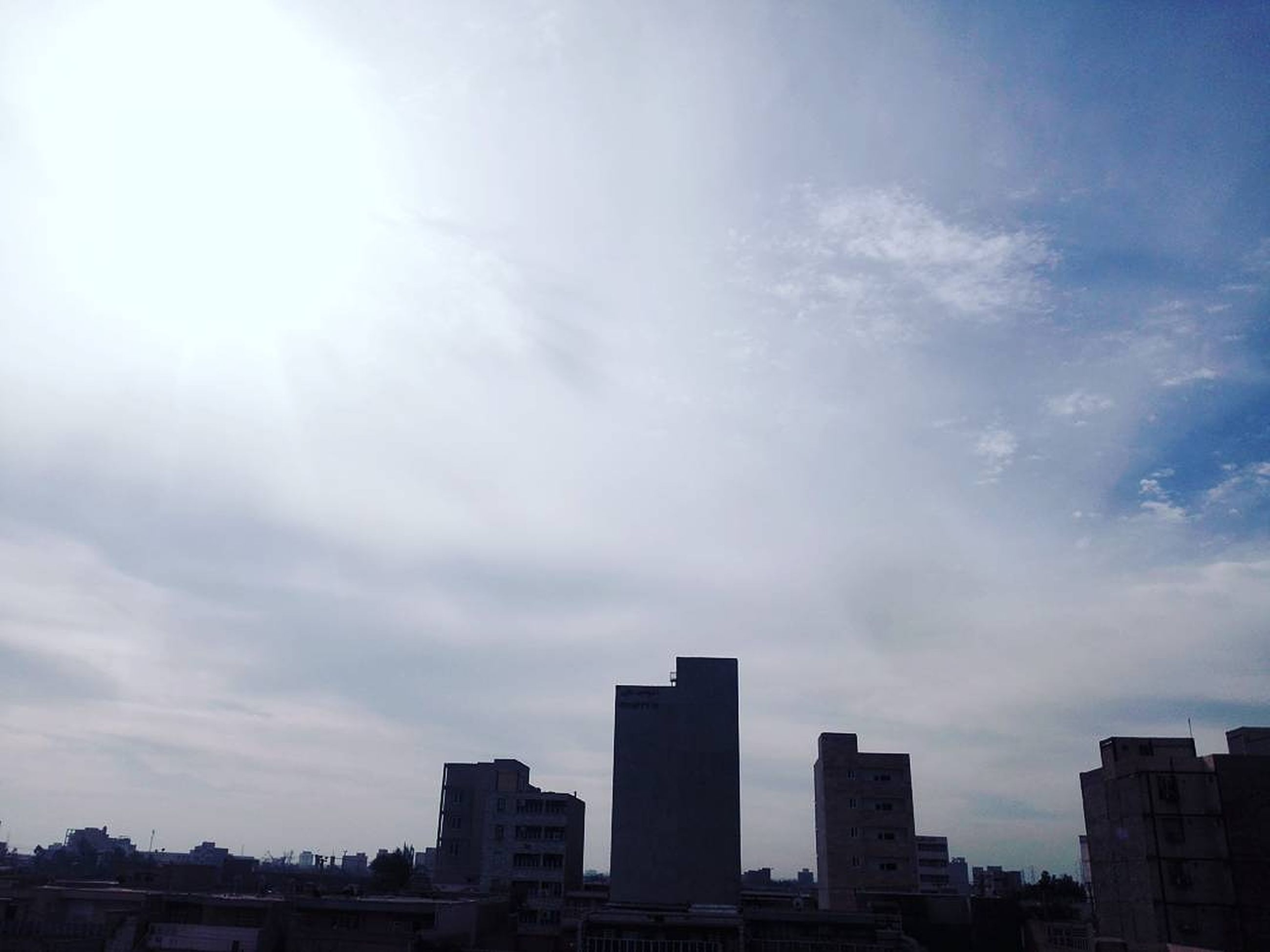 architecture, sky, urban skyline, building exterior, city, cityscape, skyscraper, no people, cloud - sky, outdoors, downtown district, day