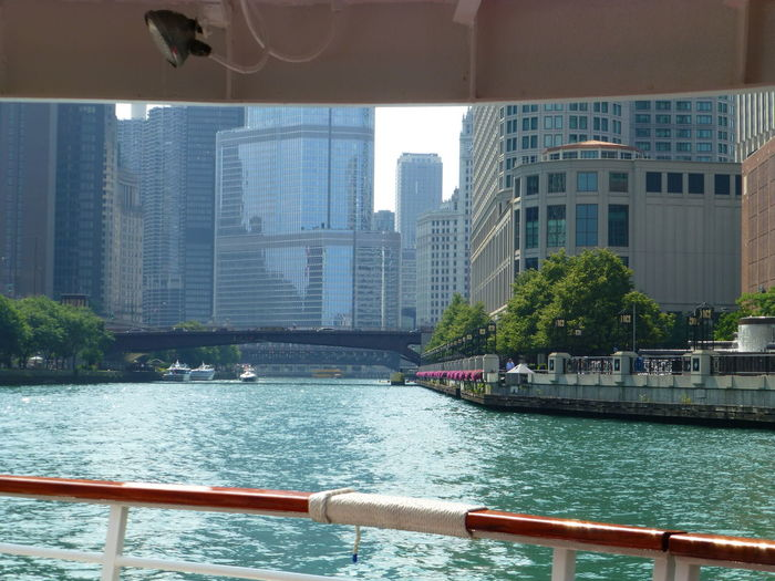 Chicago Chicago River Chicago River Boatrid Chicago Riverwalk Nice Day Nicer Summer Vacation