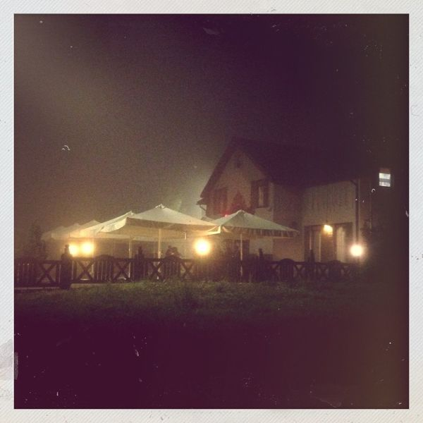 Night Fog Old House Lutsk