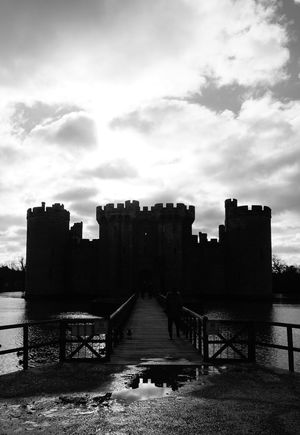 Bodiam Castle Black & White Black And White Black And White Photography Blackandwhite Bodiam Castle Bridge Castle Clouds Day Light Medieval Medieval Architecture Medieval Castle Moat No People Ruined Silhouette Sky Sky And Clouds