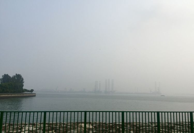 Haze everywhere! Shades Of Grey Walking Around Sky Water Sea Haze Grey Gray Park