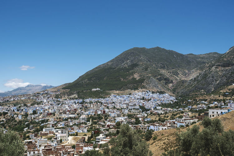 Architecture Cityscape From Above  Morocco MoroccoTrip Africa Blue Sky City View  Mountain