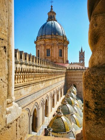 Metropolitan Cathedral Of The Assumption Of Virgin Mary Palermo Sicily Italy Travel Photography Travel Voyage Traveling Mobile Photography Fine Art Sicilian Normand Architecture Crenellated Churches Gothic Towers Domes Giallo A Palermo Tutti I Particolari In Cronaca Palermo Mellow Yellow