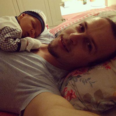 Ilk baba ogul selfiesi Dadandson Baby Newborn Father