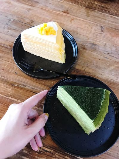 Matcha & Mango Mille Crepe Cakes 🍰 In My Mouf 😋