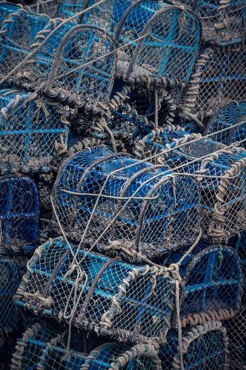 Full Frame Shot Of Crab Pots