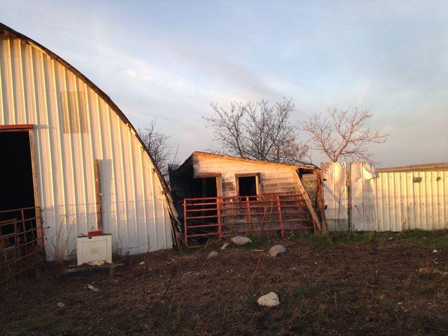 Down on the farm. Grass Day Barn Old Buildings Nostalgic