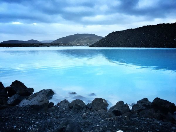 Blue lagoon Water Sky Nature Beauty In Nature Tranquil Scene Mountain Scenics No People Tranquility Day Iceberg EyeEmNewHere