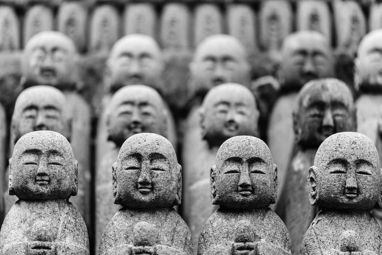 Full Frame Shot Of Jizo Statues At Hase Temple