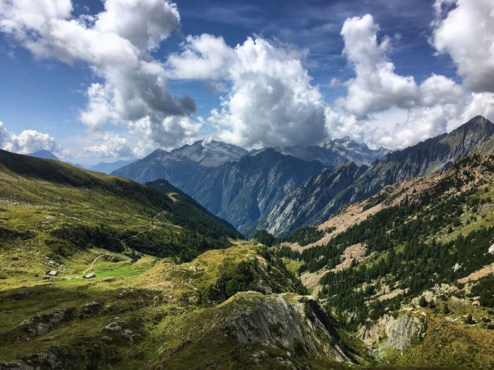 ShotOnIphone Landscape Italy Alps Mountain Cloud - Sky Sky Mountain Scenics - Nature Beauty In Nature Tranquility Tranquil Scene Environment Nature Landscape No People Non-urban Scene Idyllic Remote Outdoors Mountain Range My Best Photo