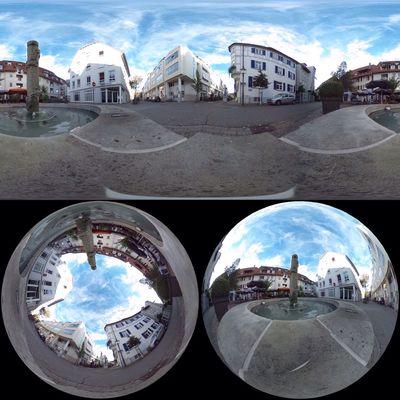 Instagram testdrive with the Ricoh Theta at Place de Draguignan in Tuttlingen... #theta360 #TUTerleben