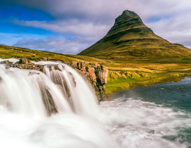 Beauty In Nature Day Enjoying Life Iceland Kirkjufell Kirkjufellsfoss Landscape Long Exposure Nature No People Outdoors Scenery Scenic Scenics Water Waterfall