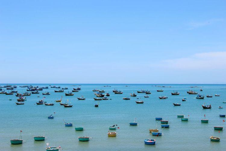 Muine, Vietnam  Pier Fishing Boat Fishing Village Roundandround Horizon Over Water Sunlight Day Heat Wave The Great Outdoors - 2017 EyeEm Awards