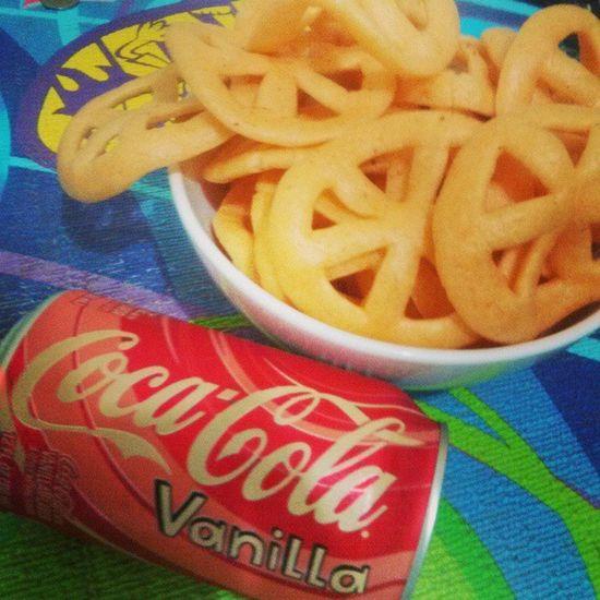 Coke Cocacolavanilla Chips Love sunday fat snack relax