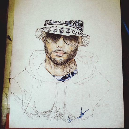 Pores soin du portrait de Booba Art, Drawing, Creativity