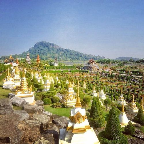 Nature Village Pattaya Thailand Garden Temple Vihara Culture Travel Tags4like