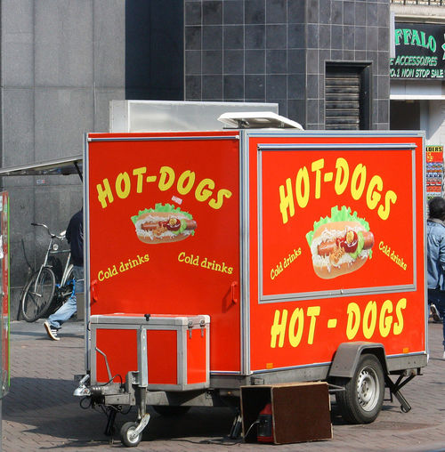 A Taste Of Amsterdam Takeaway Food Amsterdamcity Architecture Building Exterior Built Structure Communication Day Hot Dog Stand No People Outdoors Red Text #urbanana: The Urban Playground